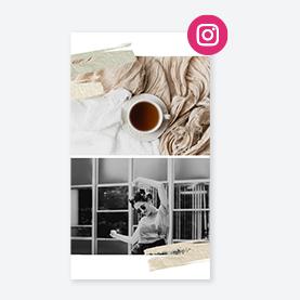 Social media template for Instagram