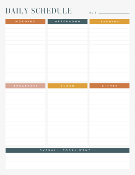 PicMonkey daily schedule maker template