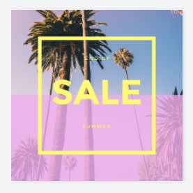 instagram post template sale promo