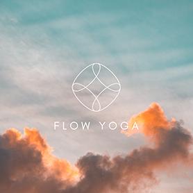 PicMonkey logo design template for yoga business