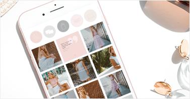 instagram layout grid on mobile