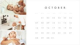 new baby photos printable monthly calendar template