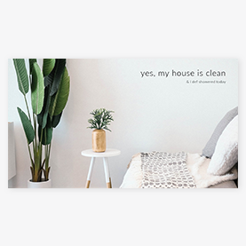 Clean house Zoom background template at PicMonkey