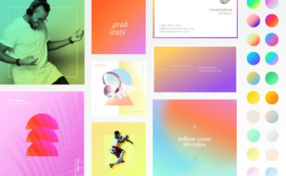 Color gradient designs made with PicMonkey.