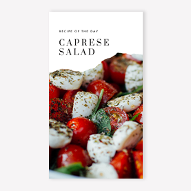 Recipe of the Day Instagram Story Template
