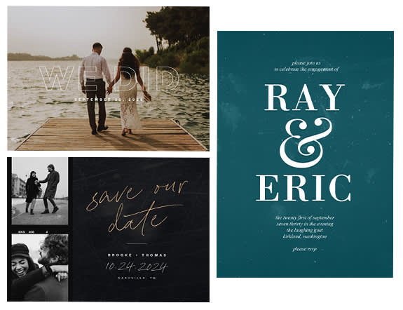 Customize a PicMonkey wedding announcement template