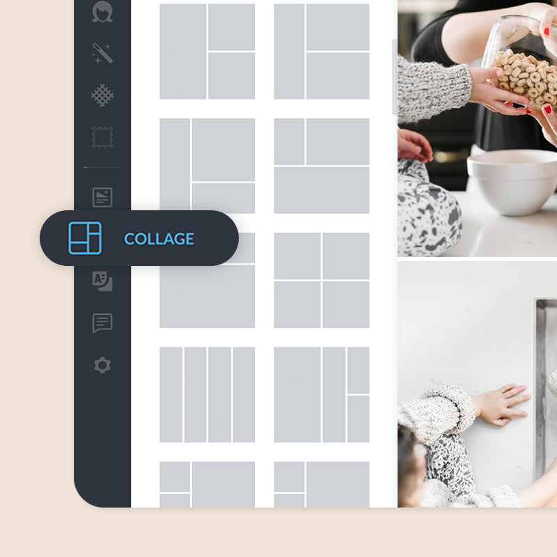 PicMonkey's online collage tool for making stunning collages.