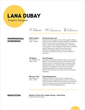 lana-dubay-resume-template