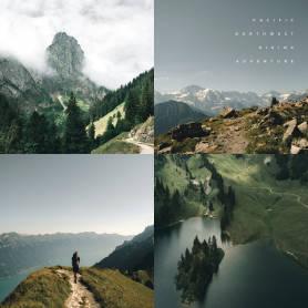 Plantilla de publicación de Instagram con collage de hermosas fotos exteriores