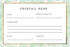 palm tree recipe card
