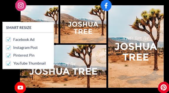 PicMonkey Smart Resize outil pour dimensionner les images pour différentes plates-formes sociales