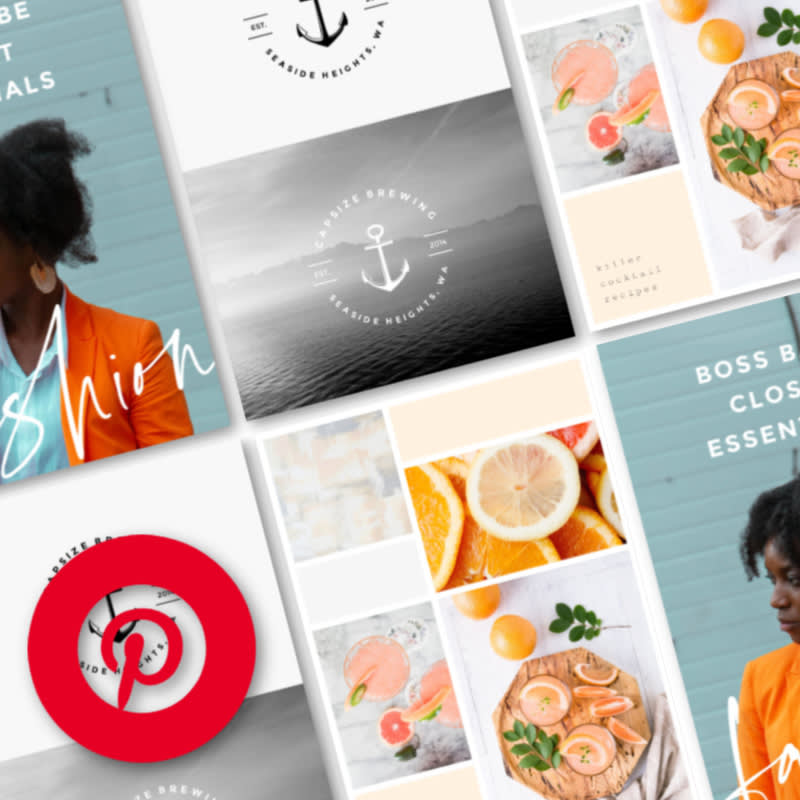 How to use templates to make a pinterest pin