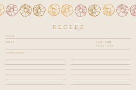 flower recipe card