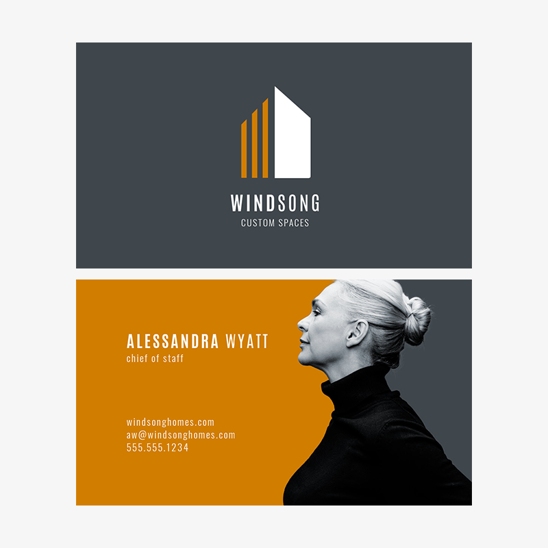 Business card template designs at PicMonkey