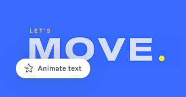 """Text design with blue background and """"Move"""" text three times in a vertical line, highlighting ability to animate text in PicMonkey."""