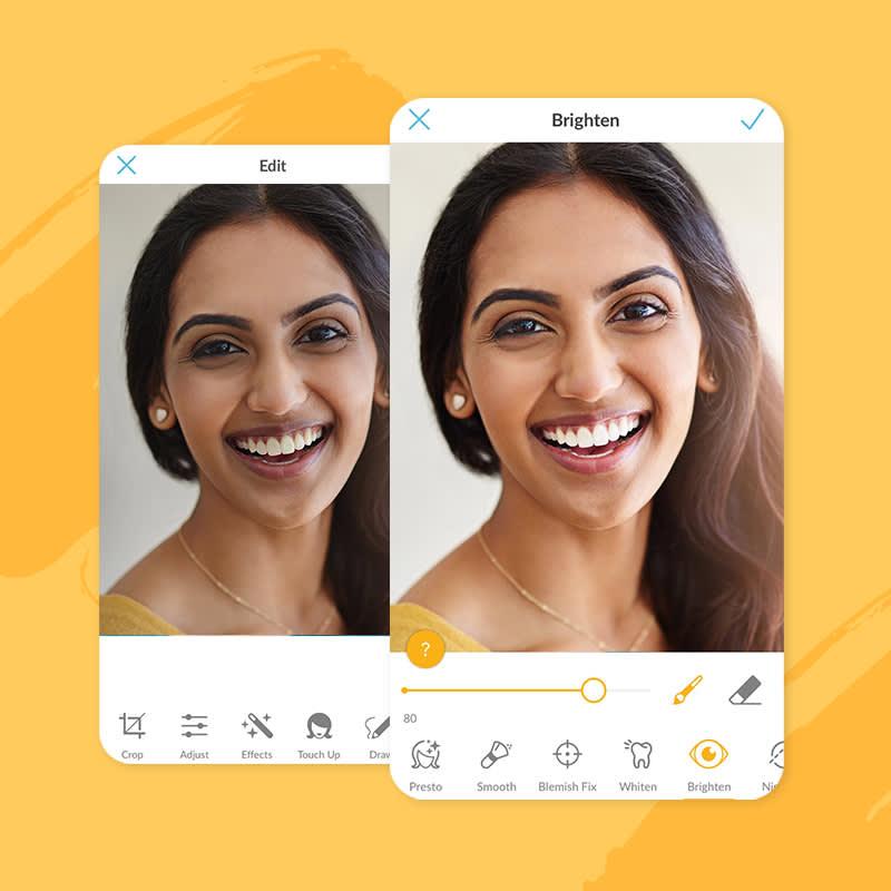 how to use picmonkey's Mobile Touch-Up Tools