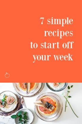 7 Simple Recipes pinterest template