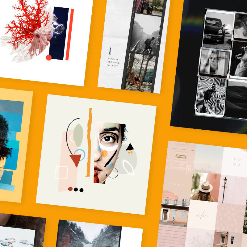 Check out these seven looks for beautiful, bold collages—and get al the tips for creating them.