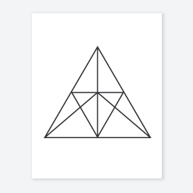 geometric triangle coloring page