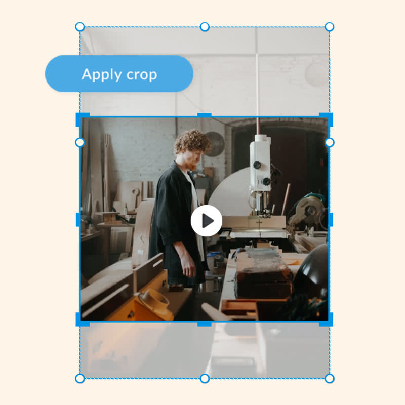 How to crop video to fit for social media posts