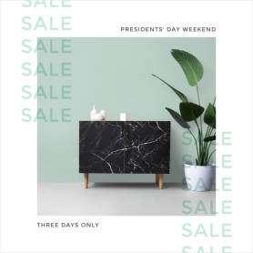 President's Day Weekend Sale ad template