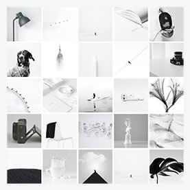 Collage monochromatique - Modèle de collage de photos