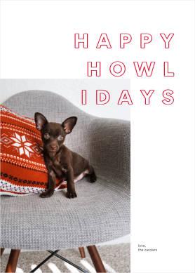 Happy Howlidays Christmas card template