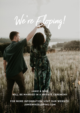 We're eloping wedding announcement template with photo at PicMonkey