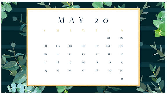 Make a printable monthly calendar with PicMonkey's professionally designed templates