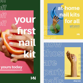 Colorful modern Haute Nails kit template