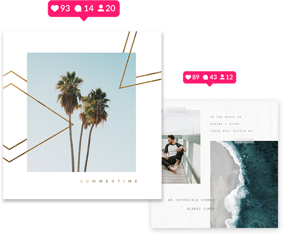 Instagram design posts covers stories