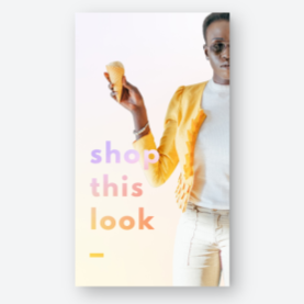 instagram story template shop this look