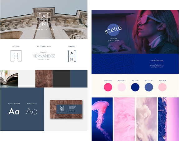 PicMonkey's brand board templates for creating brand guidelines and cohesion