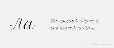 Petit Formal Script preview